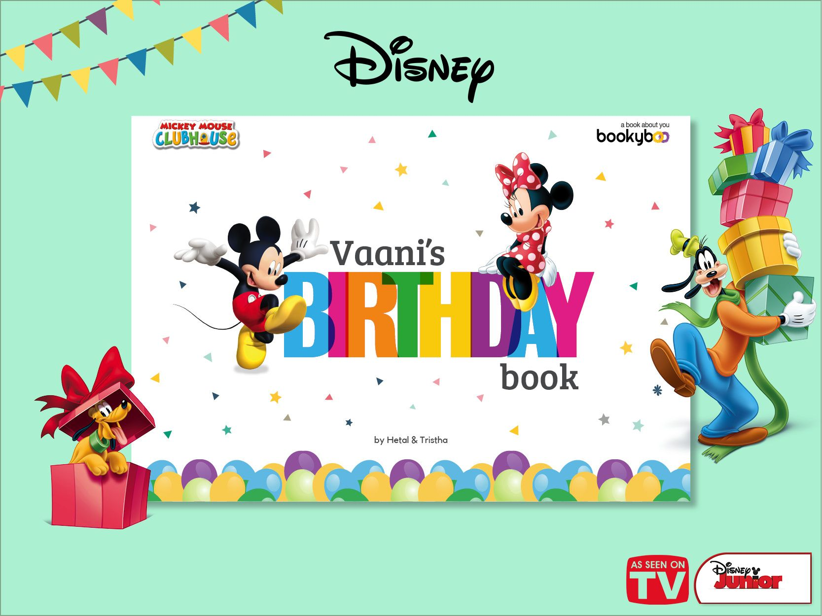 A Personalised Storybook With Your Child Mickey Minnie And Friends